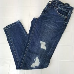 White House Black Market Jeans - WHBM size 2 The girlfriend distressed skinny jeans
